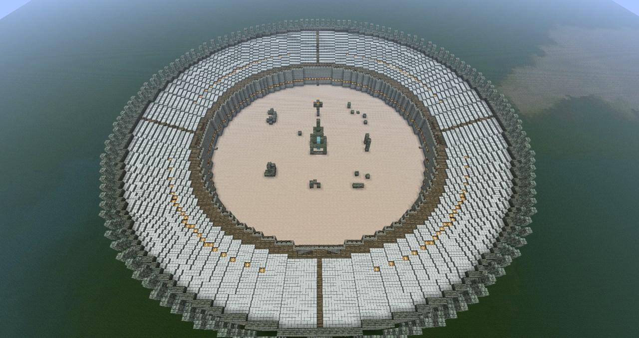 Huge 101 Block Diameter Circular Arena Minecraft Project