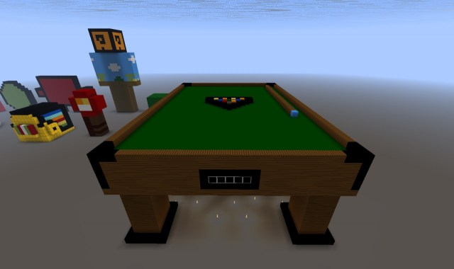 browser Normalizare bătaie pool table pixel art minecraft