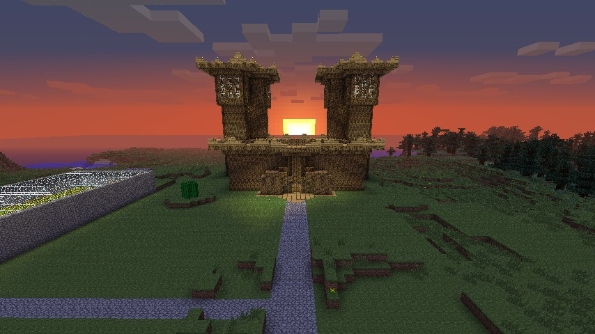 Wood Castle Minecraft Project