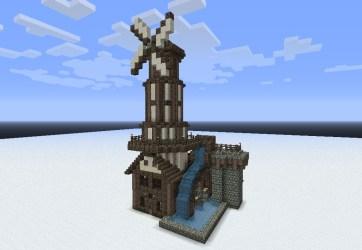 minecraft medieval buildings building windmill builds blueprints pack schems dl waterwheel mill water stuff wheel construction tower wind villa architecture