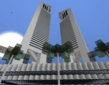 Minecraft Twin Tower Buildings
