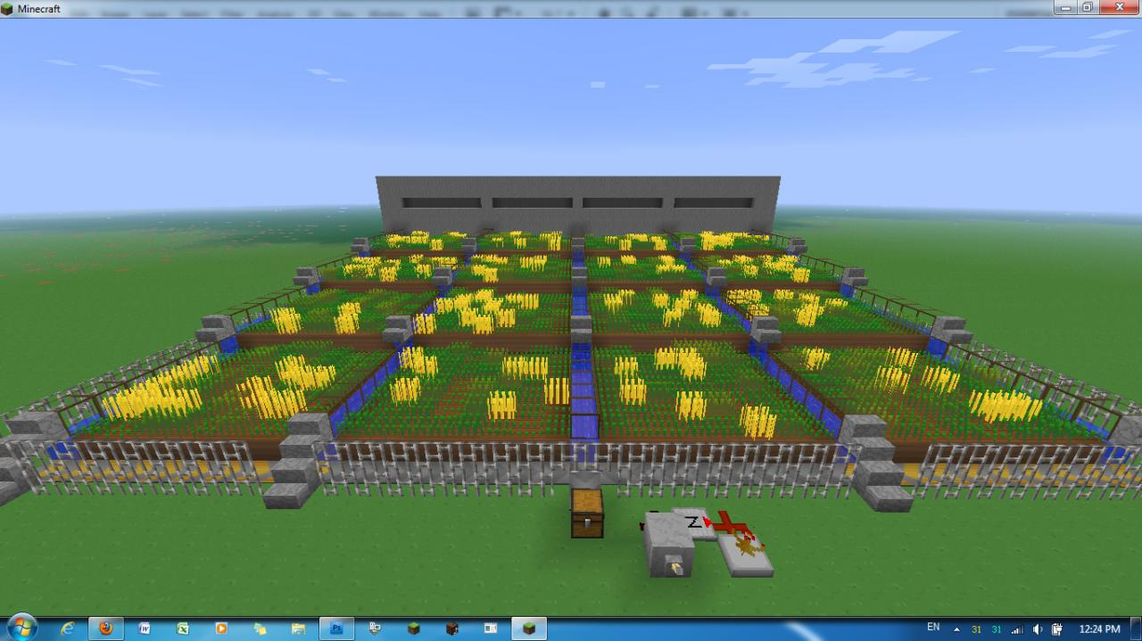 Factories And Elevator Auto Wheat Farm Minecraft Project