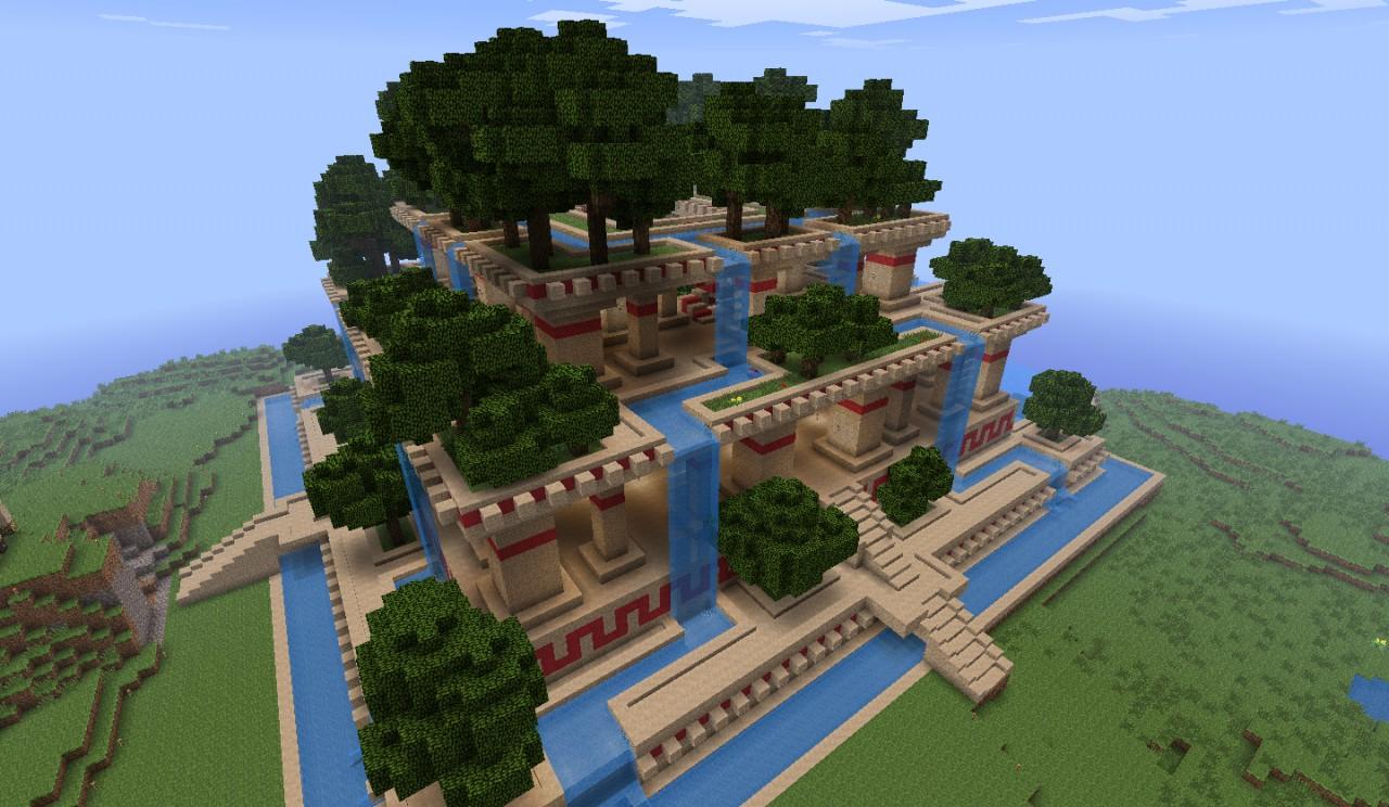 Hanging Gardens of Babylone  Jardins suspendus de Babylone Minecraft Project