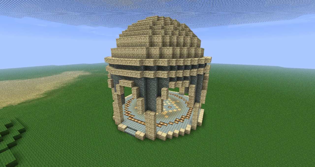 Minecraft Sphere Diagram Make The Dome Or You Will