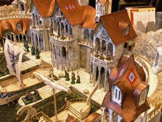 warhammer elf fantasy buildings terrain diorama scenery elven village battle port elves models miniatures dungeon medieval sea dioramas competition army