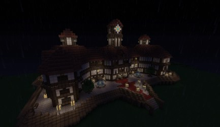 hall medieval town minecraft diamonds