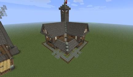 town medieval hall minecraft center pack benner jack viewer