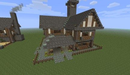 town minecraft medieval hall center houses benner pack blueprints jack viewer