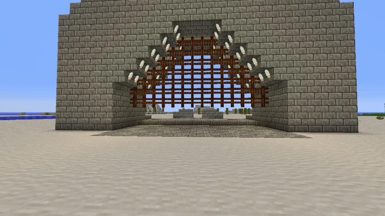 Castle Piston Gate Minecraft Project