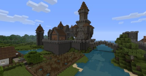medieval town minecraft project diamonds