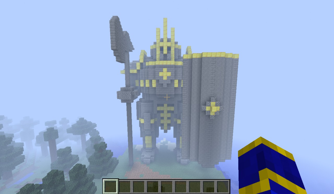 Old King Dwarf Statue Minecraft Project