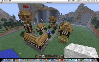 square medieval tower minecraft