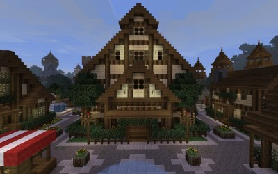 town hall minecraft artwood project