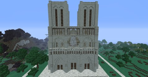 cathedral huge front minecraft
