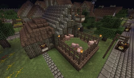 Medieval Butcher Shop Minecraft Map