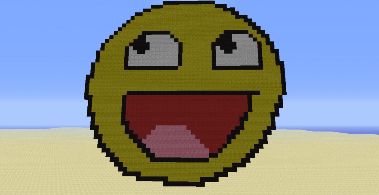 Smiley Pixel Art Minecraft Project
