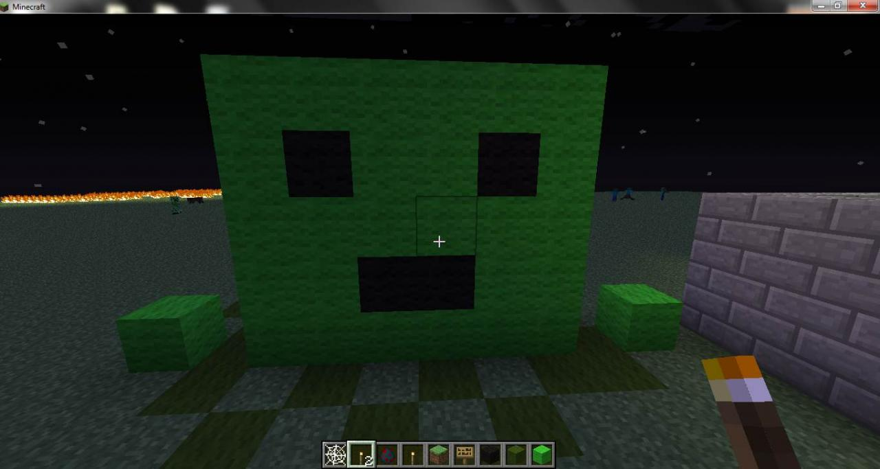 Slime statue Minecraft Project