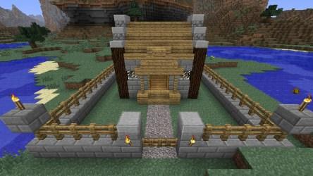 cozy cottage minecraft front modernized