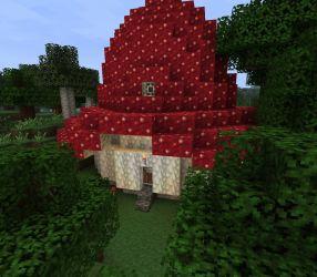 Red Mushroom House Minecraft Map