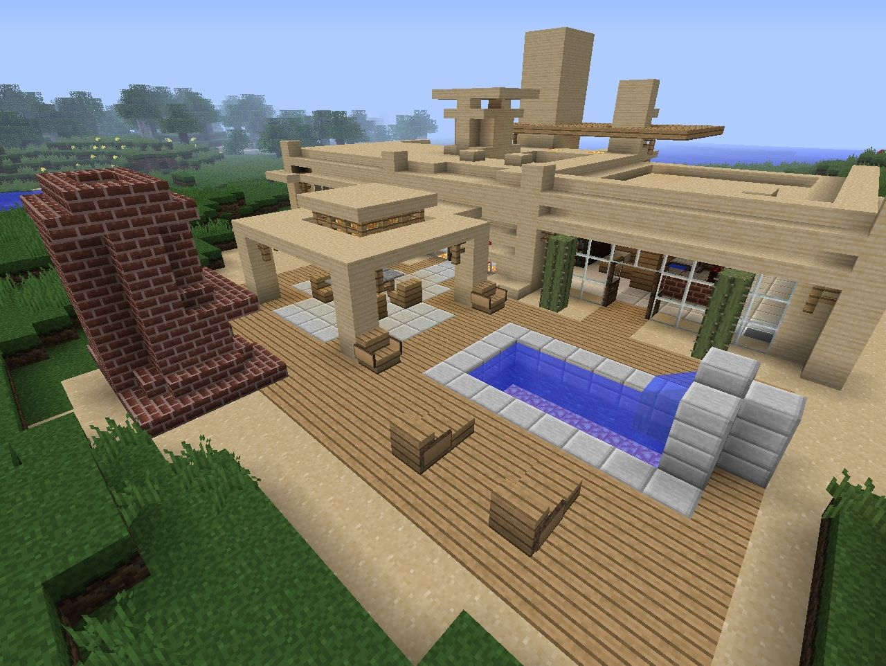 Modern Desert Home Minecraft Project