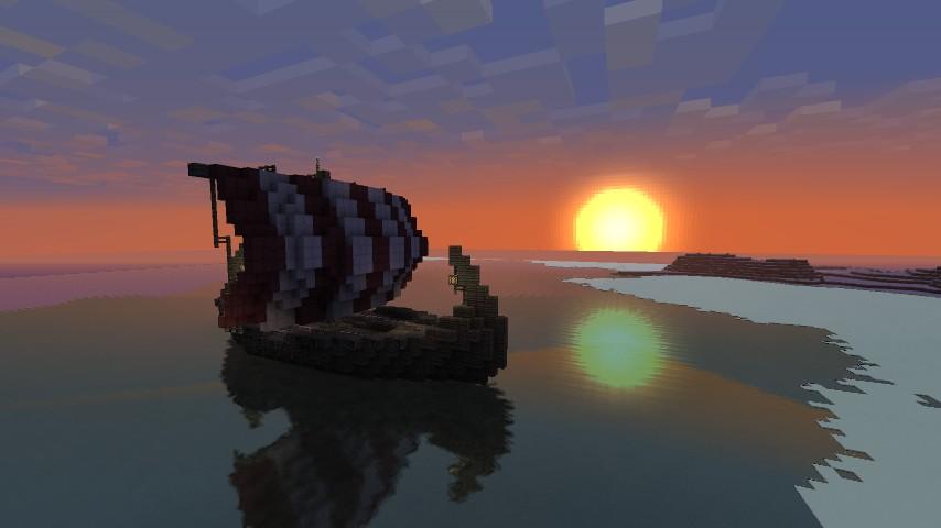 Viking Longship Minecraft Project