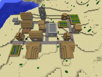 village npc minecraft project planetminecraft aerial overview