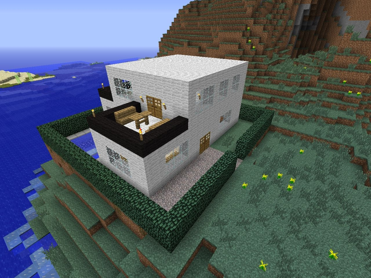 Awesome Modern House! Minecraft Project