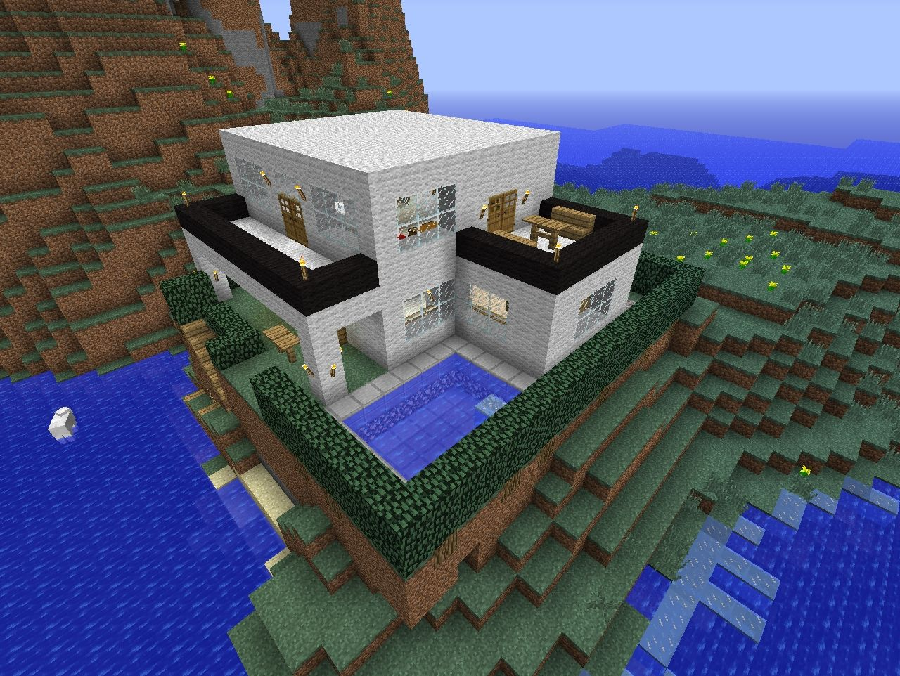 Awesome Modern House Minecraft Project