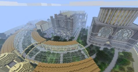 epic cathedral minecraft finished