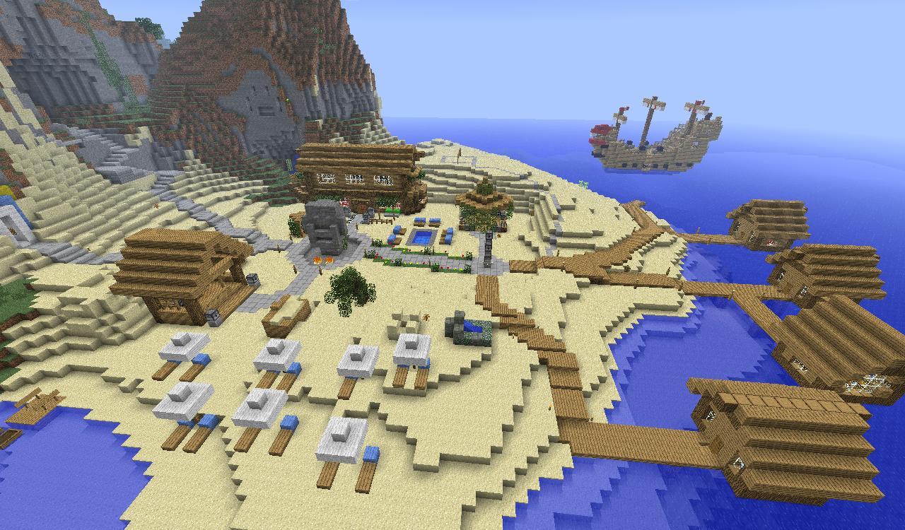 TIKI island resort Minecraft Project