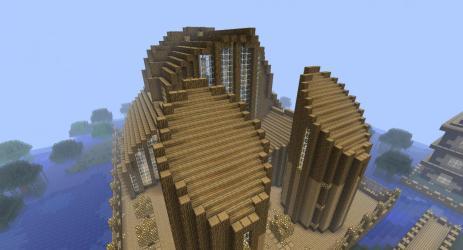church wooden minecraft project map diamonds planetminecraft