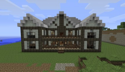 mansion medieval minecraft again front