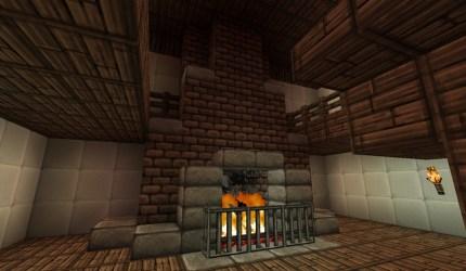 medieval mansion fireplace minecraft