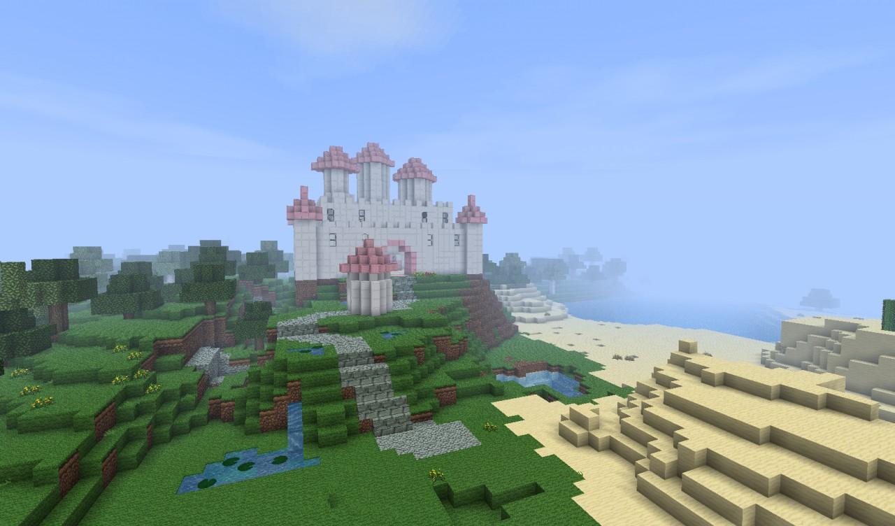 Pretty Princess Castle Unfinished Minecraft Project