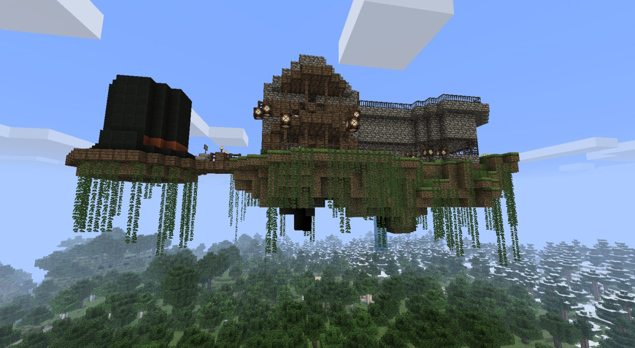 Godric's Floating House Minecraft Project