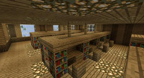 hall wooden town minecraft diamonds