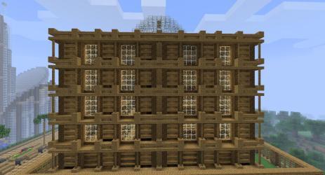 town hall wooden minecraft project tweet