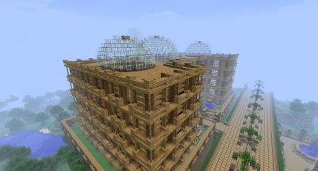 town hall wooden project minecraft feb published am planetminecraft