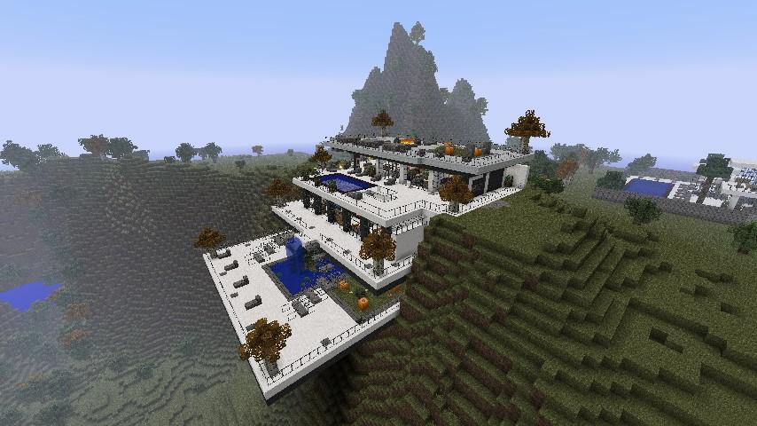 Modern Cliffside Villa Minecraft Project
