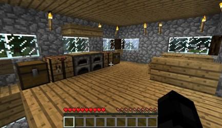 cozy cottage kitchen floor minecraft dining area