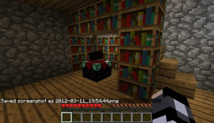 cottage cozy minecraft basement library