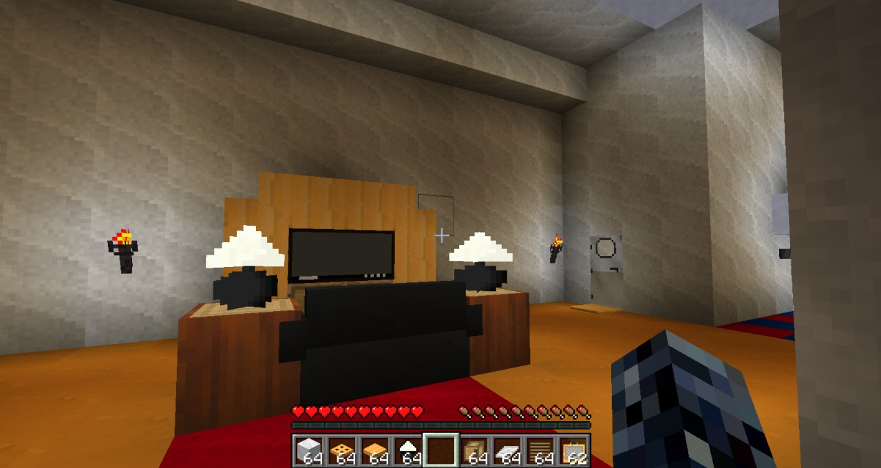 Architectural Ranch House uses furniture mod Minecraft