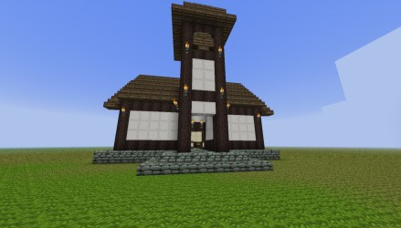 medieval townhall minecraft furnace forge project map