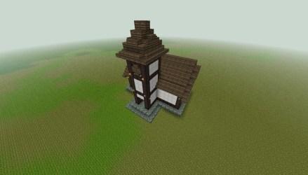medieval townhall minecraft sky