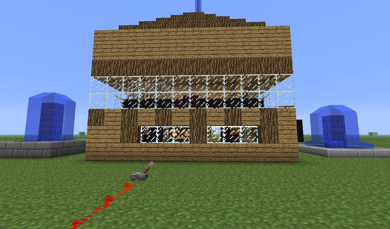 Really cool house and pools Minecraft Project