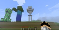 Minecraft - Skeleton Statue. Minecraft Project