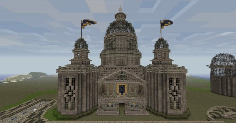 hall cathedral front minecraft project