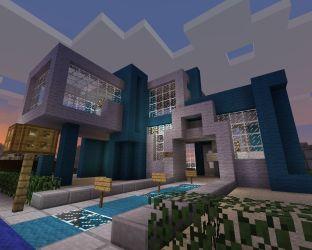 town hall modern minecraft diamonds