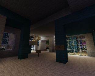 hall modern town project minecraft