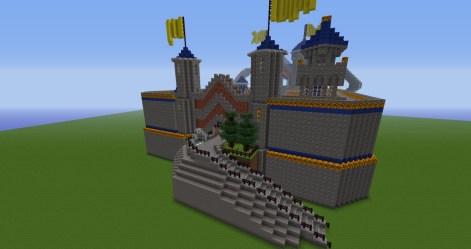 dwarven forge castle gate front dwarves minecraft